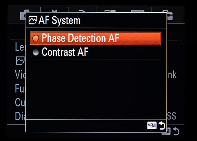 Sony a7II Firmware Update 2 00 Adds AF System Selection