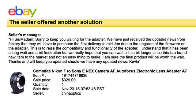 Commlite-Nikon-Sony-E-adapter-delay