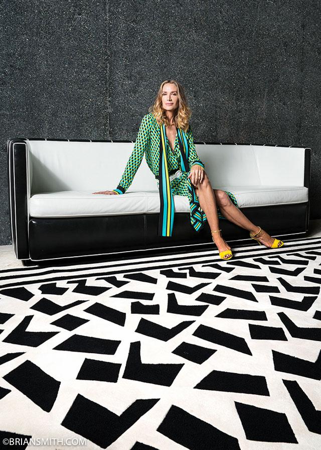Actress Kelly Lynch photographed at Faena House, Miami Beach