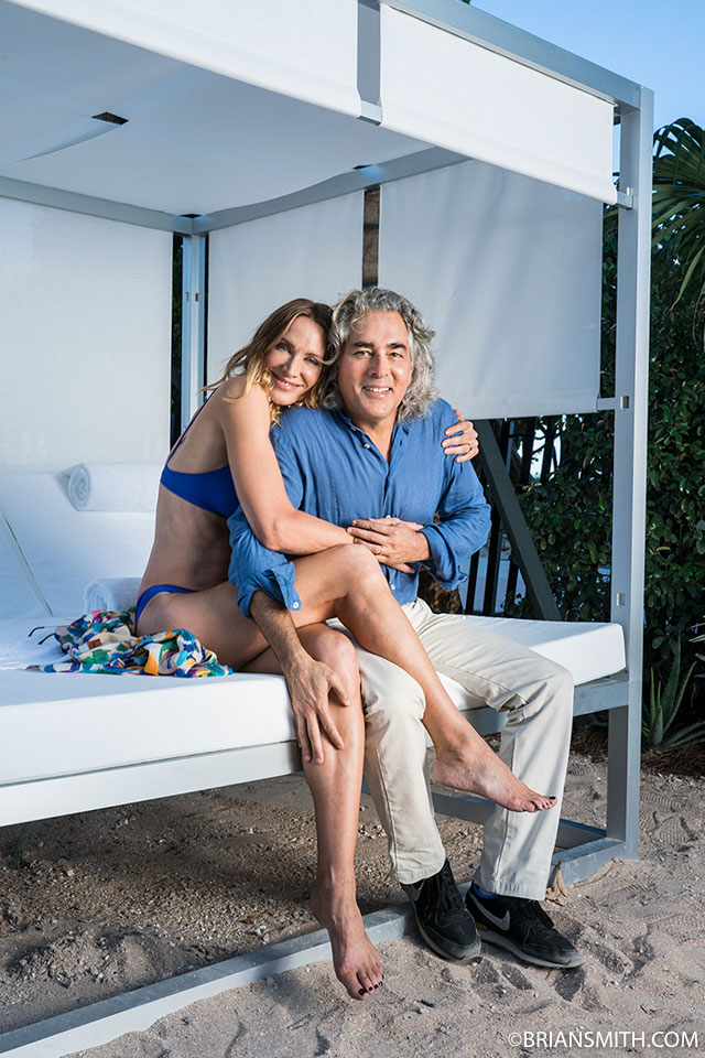 Actress Kelly Lynch photographed with husband Mitch Glazer