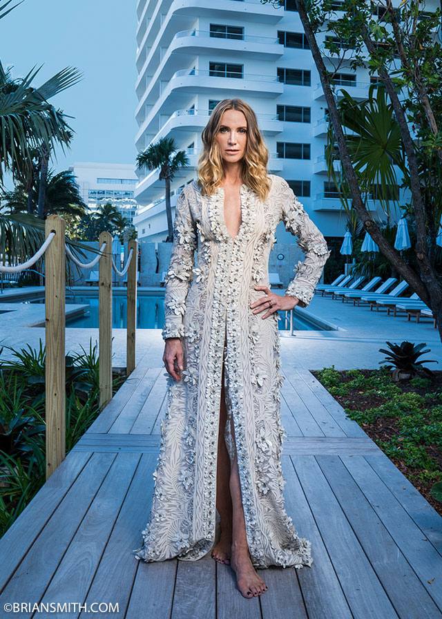 Actress Kelly Lynch photographed at Faena House, Miami Beach