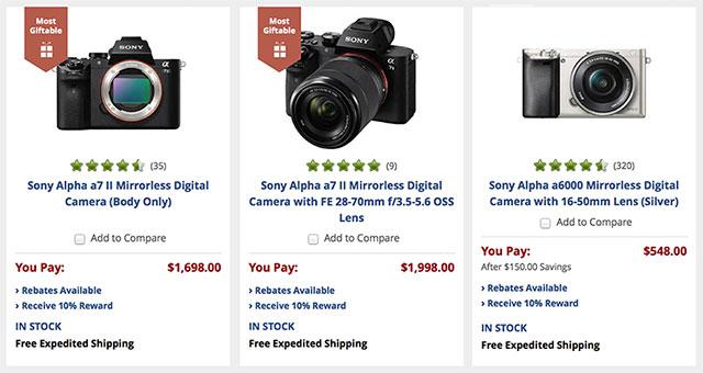 Sony-Mirrorless-Rewards-BH-Photo