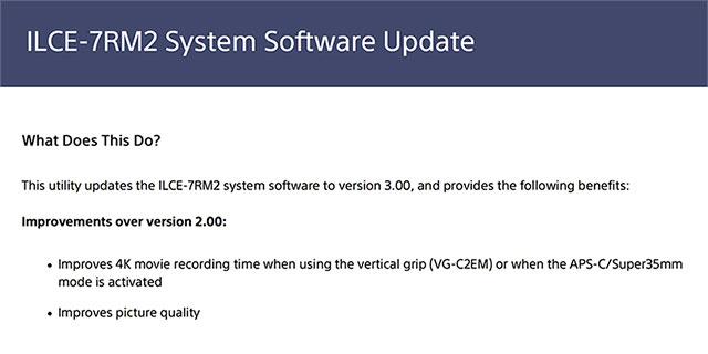 Sony-a7RII-FW-Update-3-0
