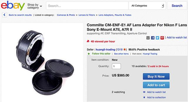 Commlite-Nikon-F-Sony-E-adapter-eBay-2016