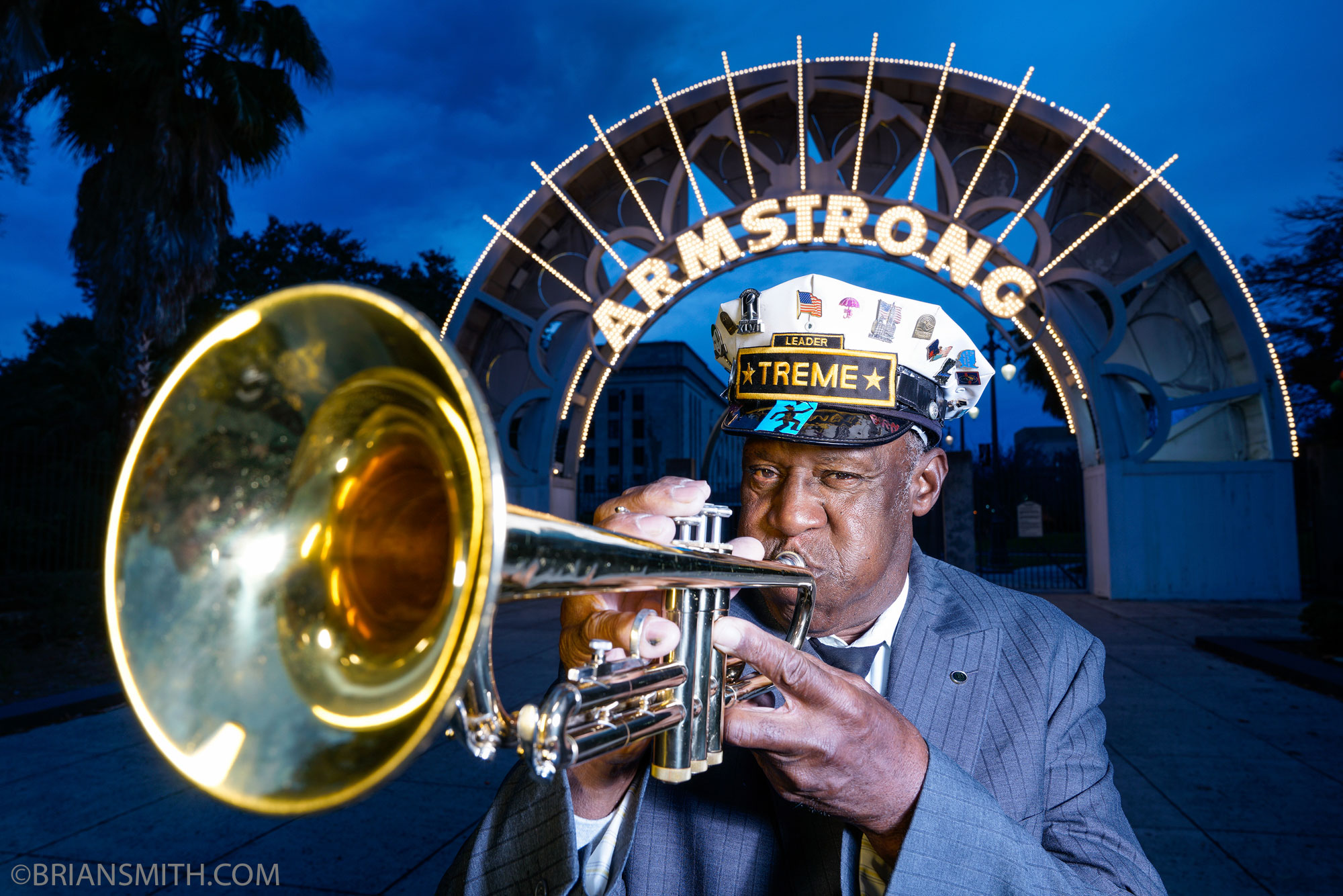 Armstrong Park New Orleans Jazz Brass Band shot with Sony FE 24-70mm F2.8 GM lens