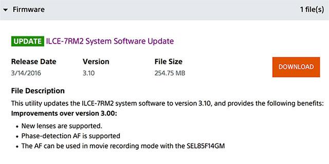 Sony-FW-3-10-Update