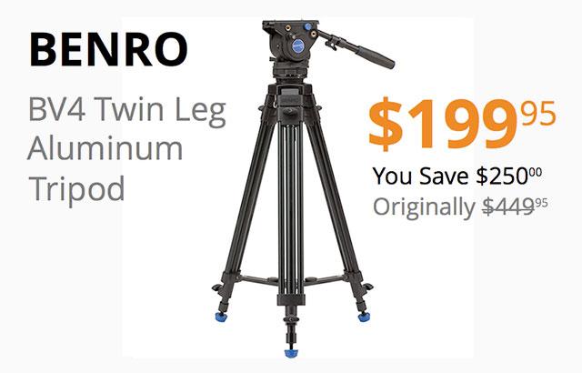 Save 250 Today On Benro Bv4 Twin Leg Video Tripod