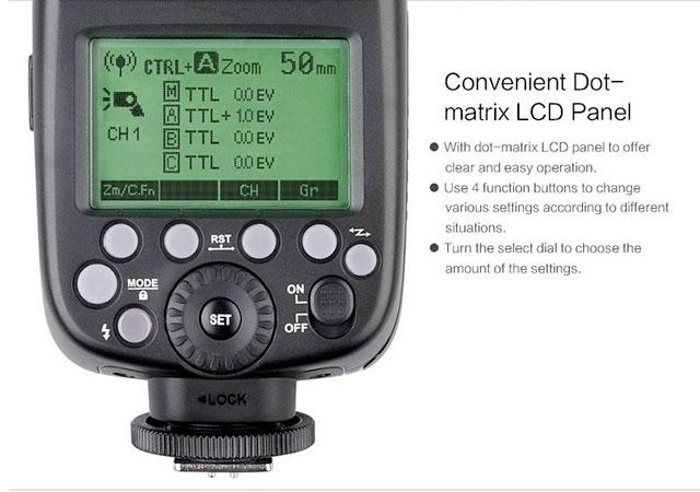 Godox-TT685S-Control-Panel