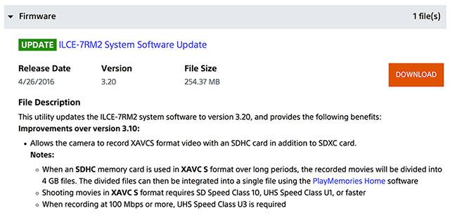 Sony-FW-3-20-Update