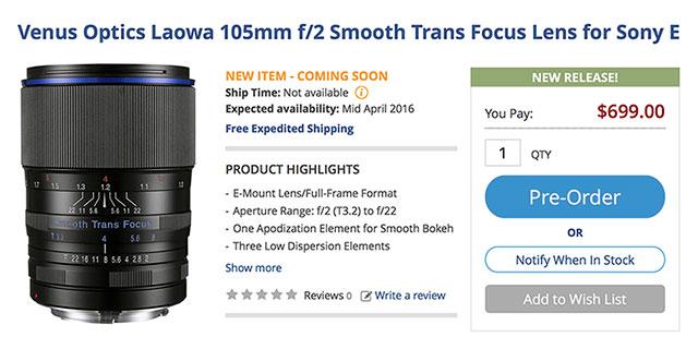 Venus-Optics-Laowa-105mm-F2-Smooth-Trans-Focus-Pre-Order
