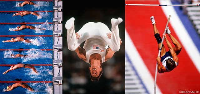 Olympic Backstoke Start and Gymnast Tim Daggett at the 1984 Los Angeles Olympics
