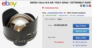 Nikkor 13mm F5.6 lens eBay