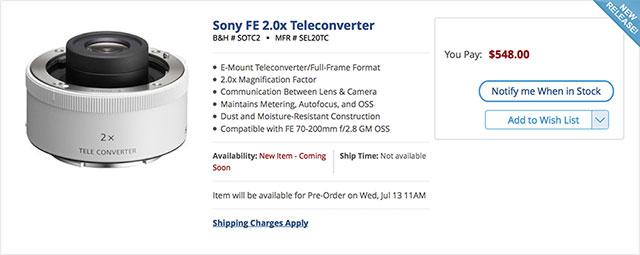Sony-FE-2X-teleconverter-order