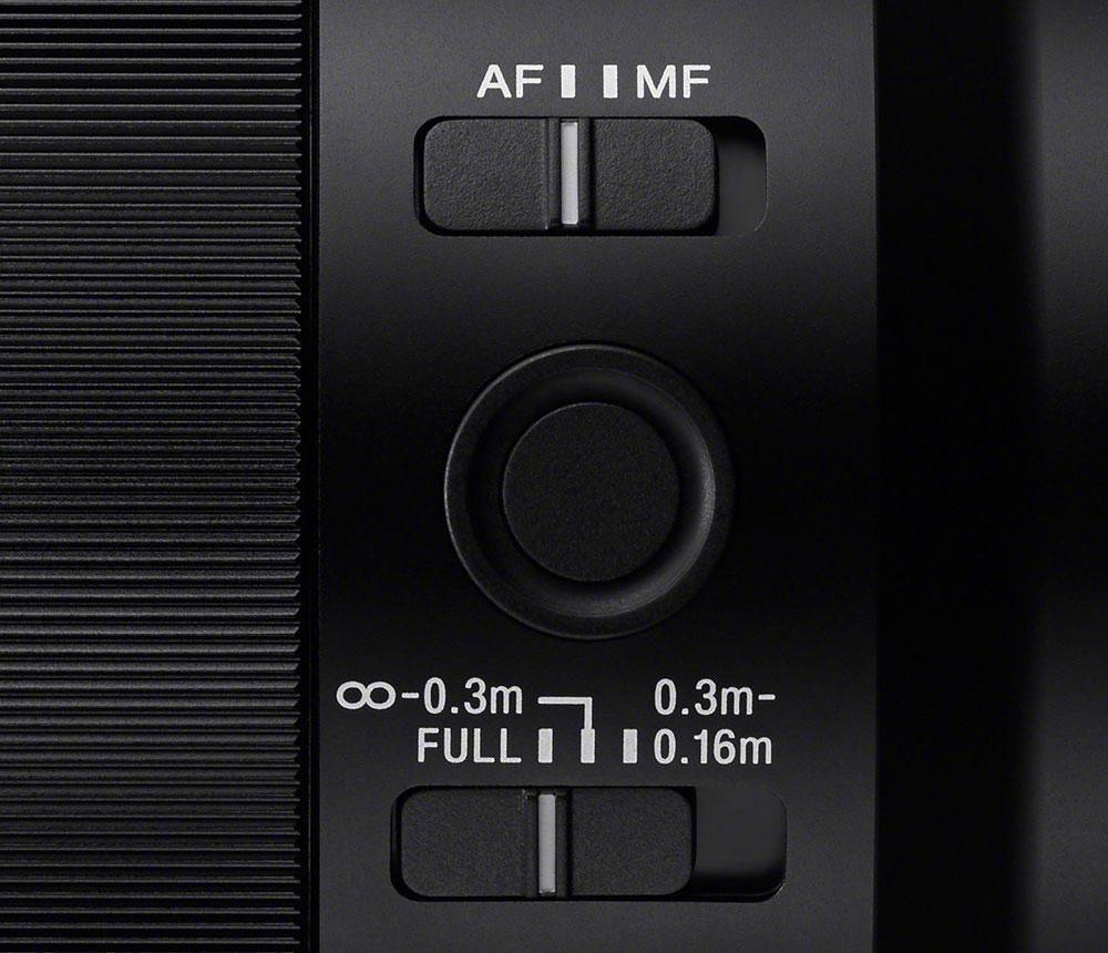 Sony FE 50mm Macro Focus Limiter