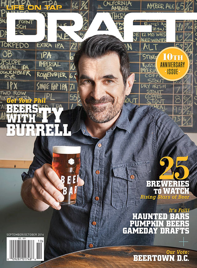 Ty Burrell cover of Draft Magazine