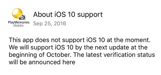 PlayMemoriesMobile-iOS-10-Warning
