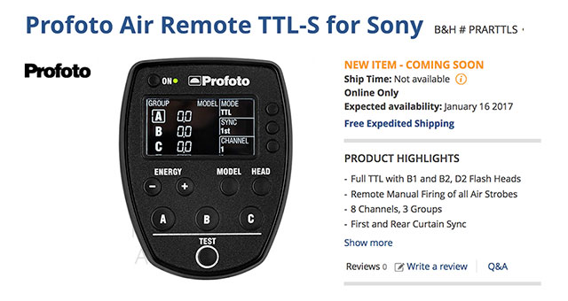 Profoto-Air-Remote-TTL-S-Sony-Order