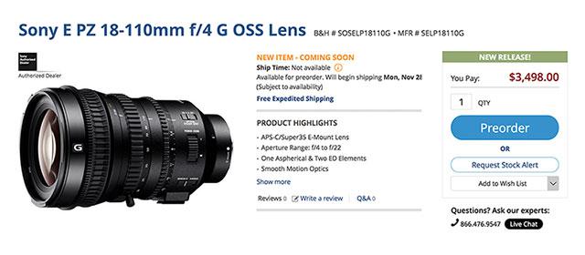 Sony-E-PZ-18-110-F4-G-OSS-Lens-Order