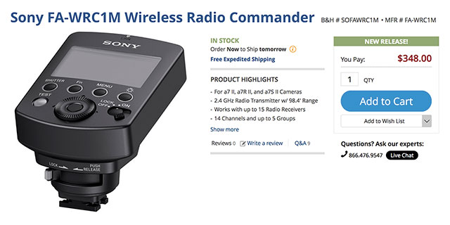 Sony-FA-WRC1-Wireless-Transmitter