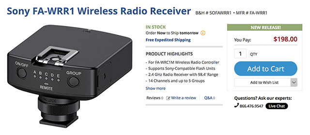 Sony-FA-WRR1-Wireless-Receiver