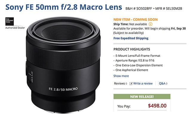 Sony-FE-50mm-F2-8-Macro-Order