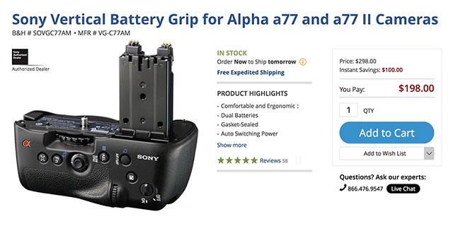 Sony-a99-II-Vertical-Grip-Sale