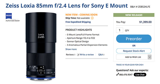 Zeiss-Loxia-85-F2-4-FE-Lens-Order