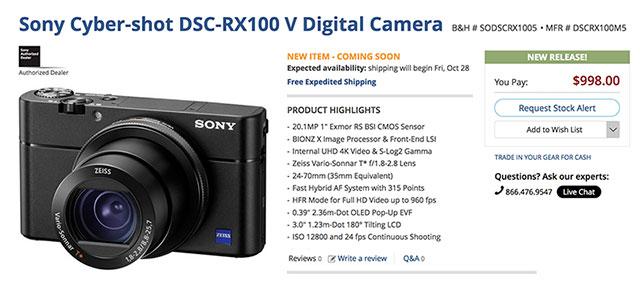 Sony-RX100-V-Order