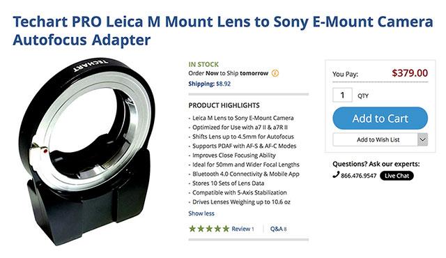 Techart-Pro-Leica-M-Sony-E-Autofocus-Adapter-BH