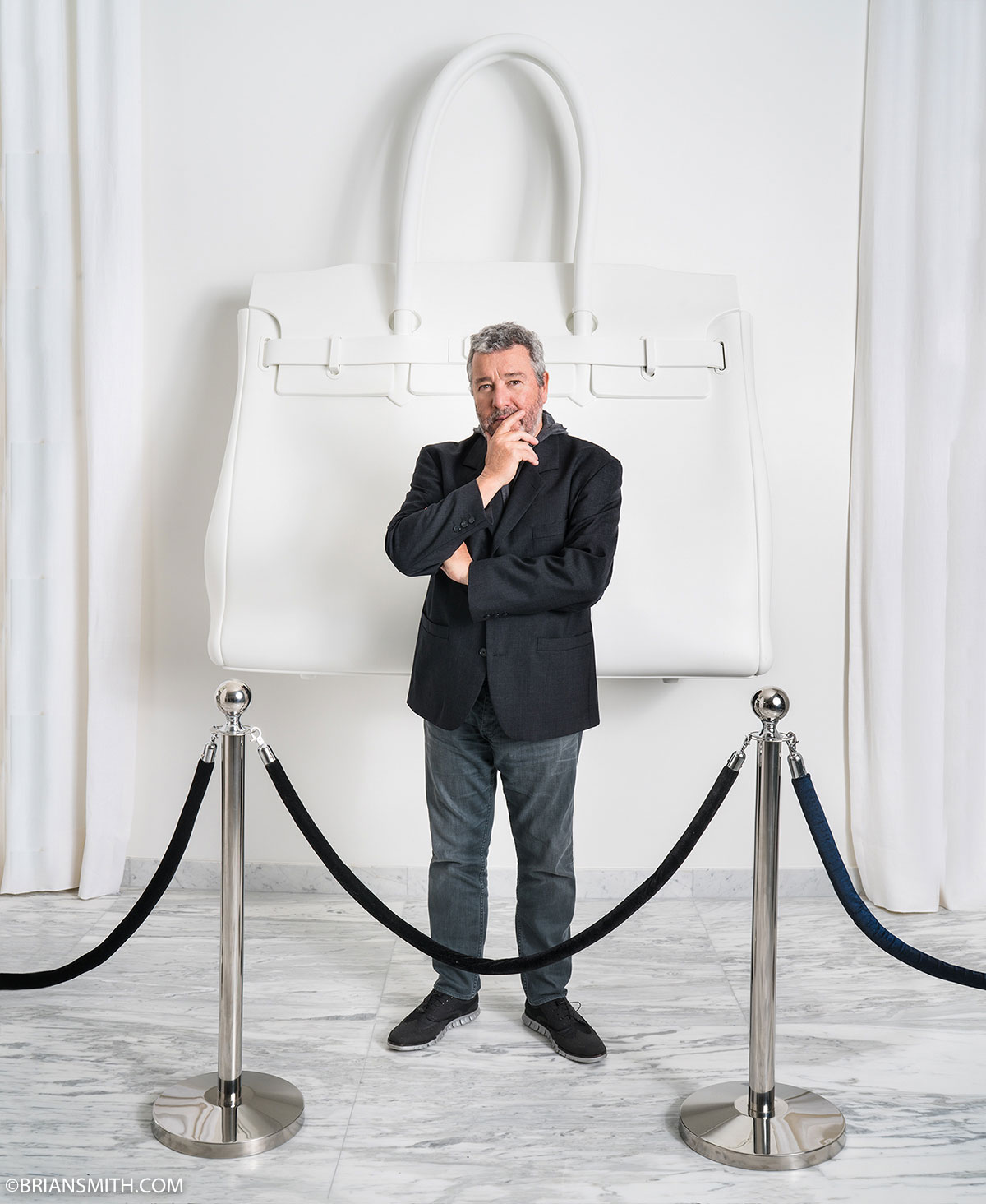 In print philippe starck sam nazarian for haute living for Philippe starck