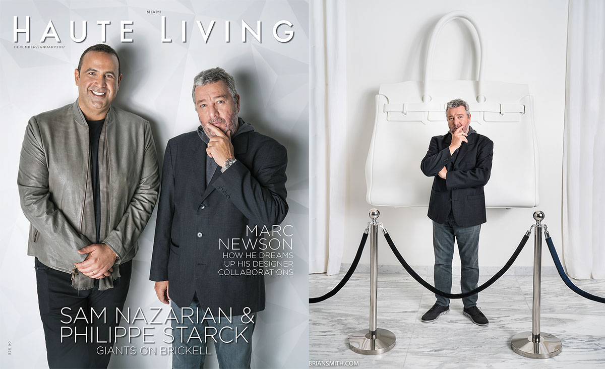 in print philippe starck sam nazarian for haute living. Black Bedroom Furniture Sets. Home Design Ideas
