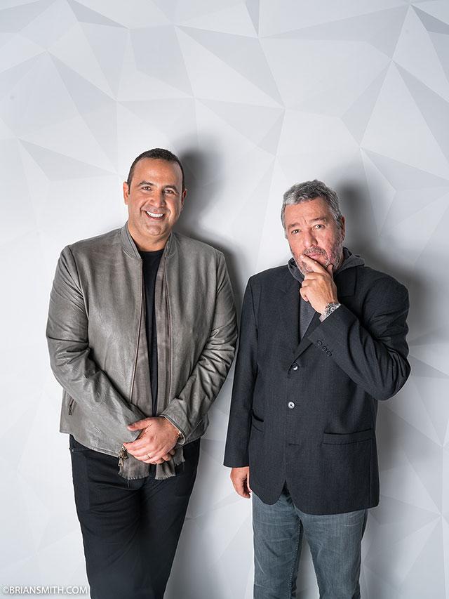 Sam Nazarian and Philippe Starck at SLS Miami