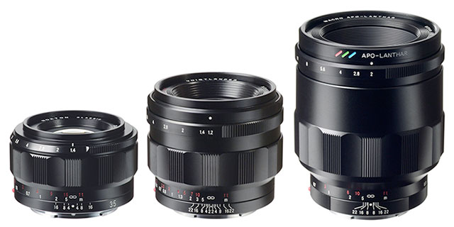 voigtlander e mount lenses voigtlander announced three fullframe