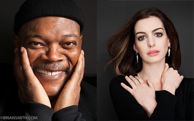 Samuel L. Jackson and Anne Hathaway photographed for 'Art & Soul'