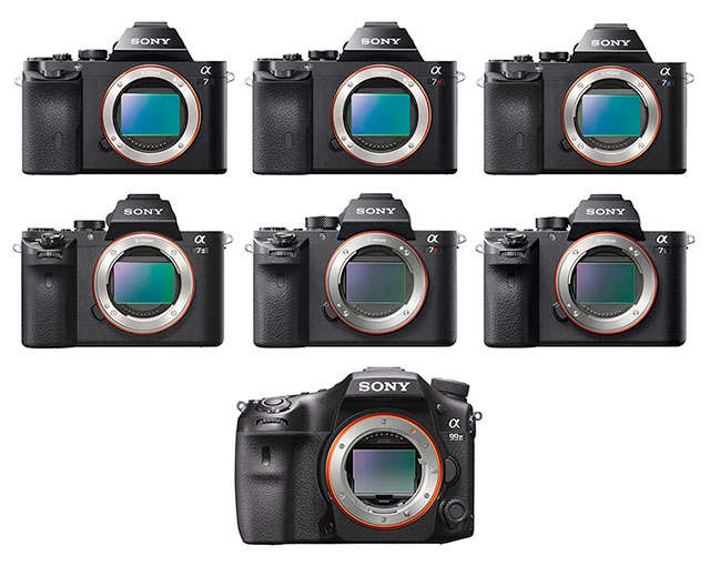 sony interchangable lens fullframe cameras