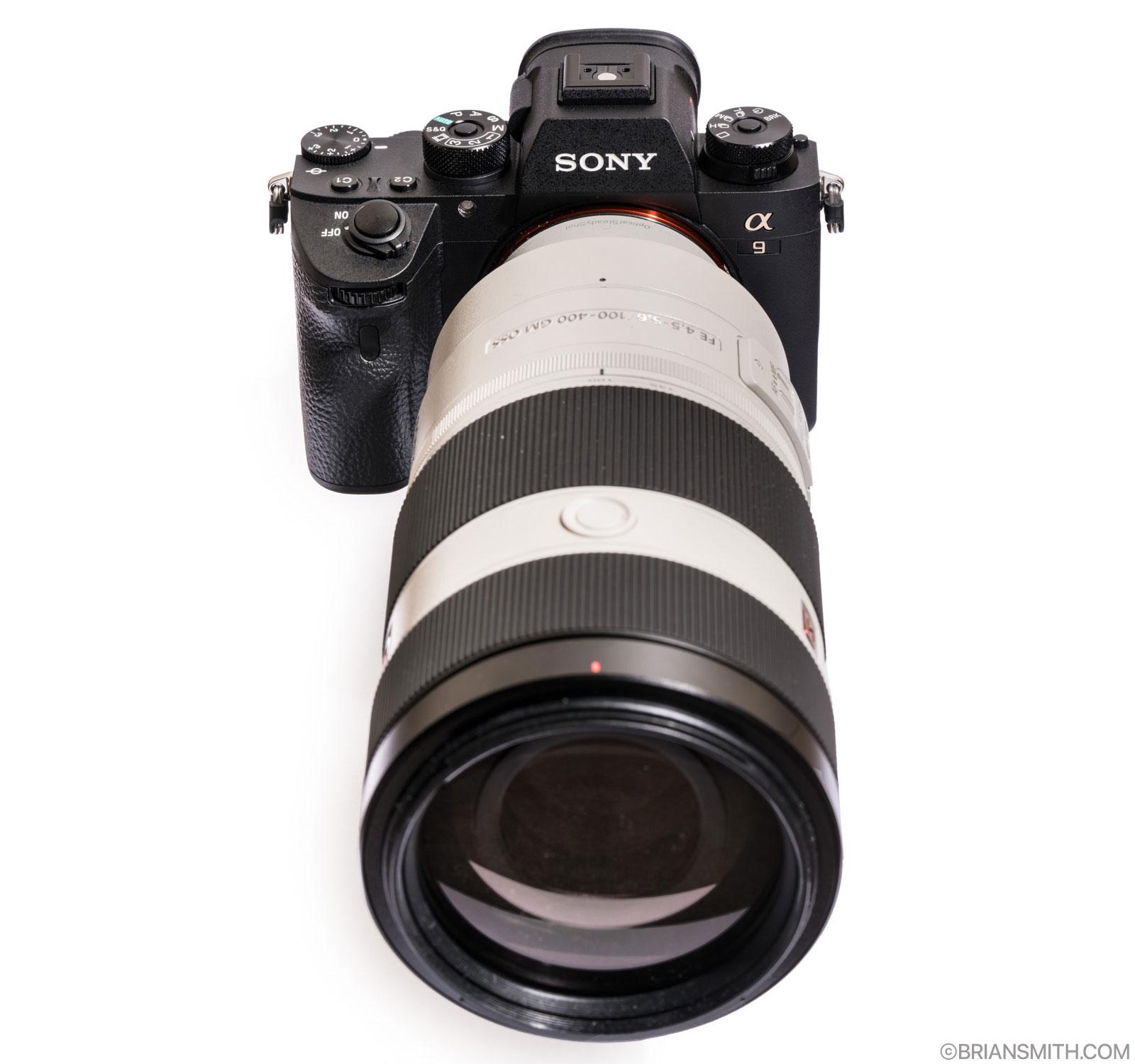 Sony a9 camera with FE 100-400 F4.5-5.6 GM OSS lens