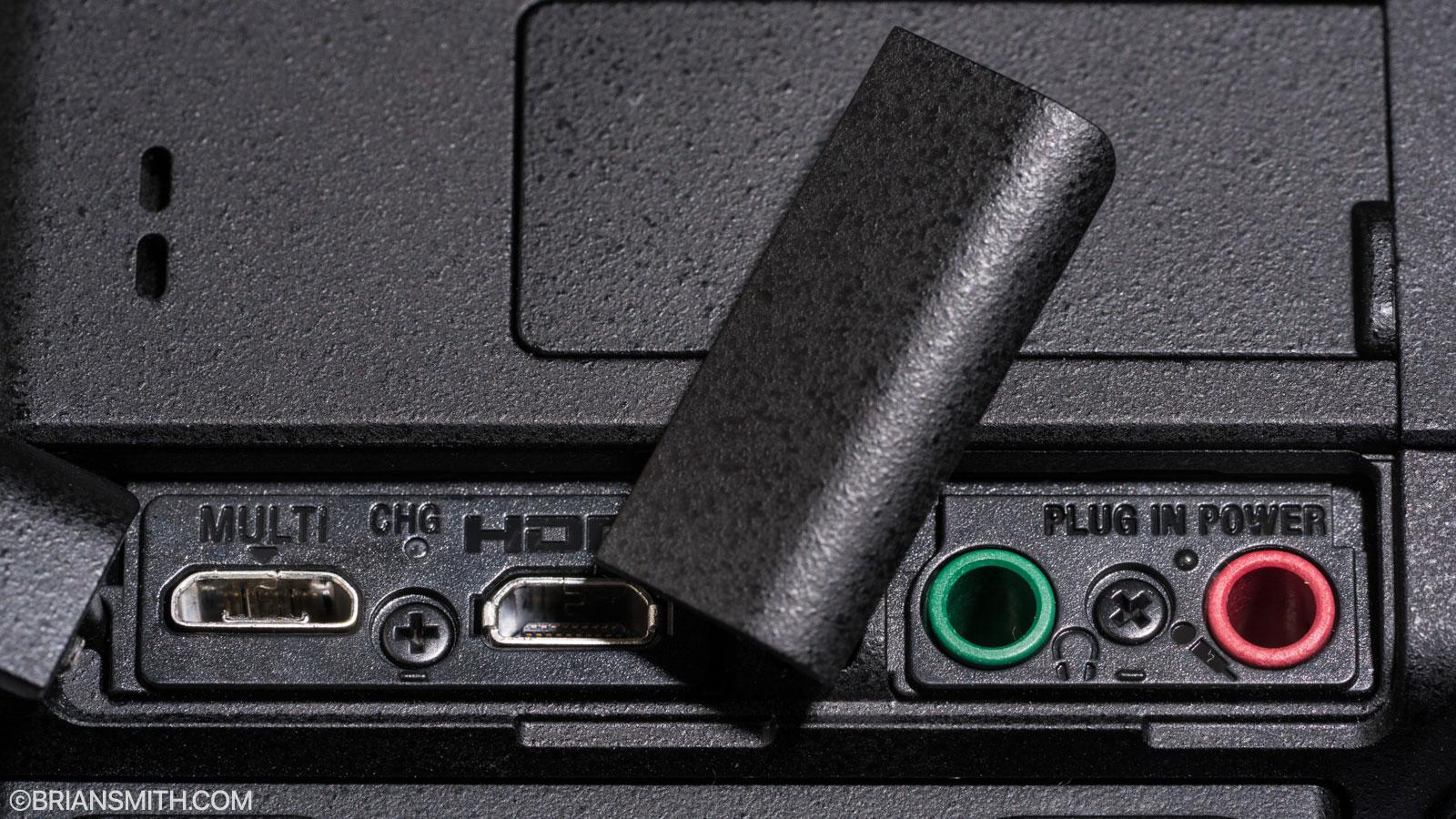 Sony a9 Multi-Terminal, HDMI Mini, Headphone and Microphone port