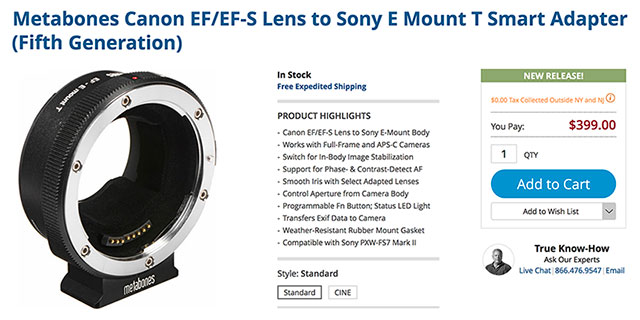 metabones-smart-adapter-v-in-stock