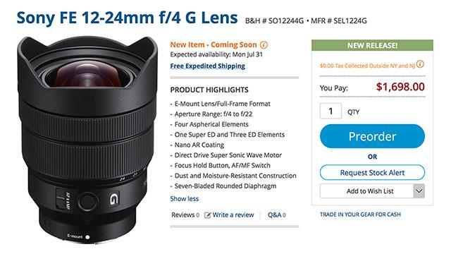 sony-fe-12-24-f4-g-lens-order