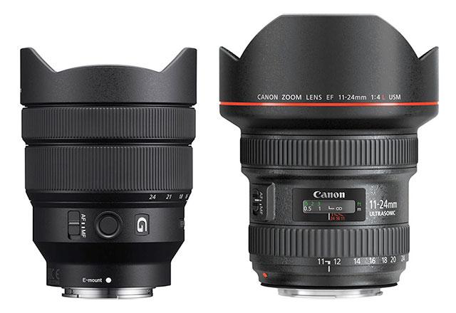 Sony Fe 12 24mm F 4 G Vs Canon Ef 11 24mm F 4 L Lens