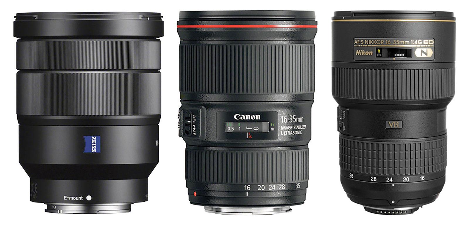 16-35mm F4 Zoom lenses