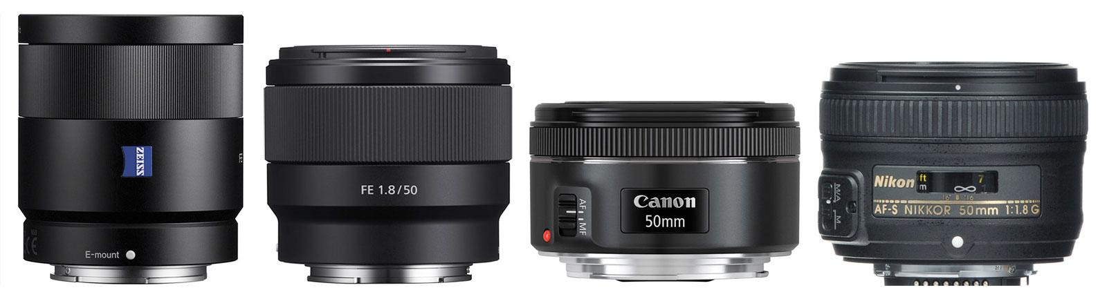 50mm-55mm F1.8 Lenses