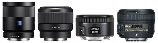 50mm-55mm-f1-8-lenses