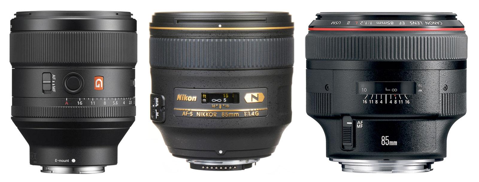 85mm F1.4-F1.2 Lenses