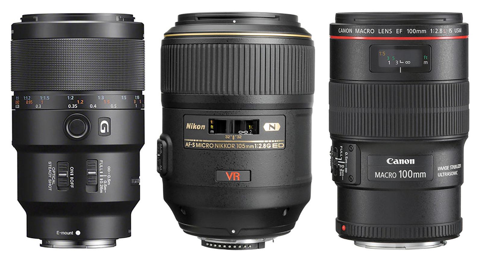 90mm-100mm Macro Lenses