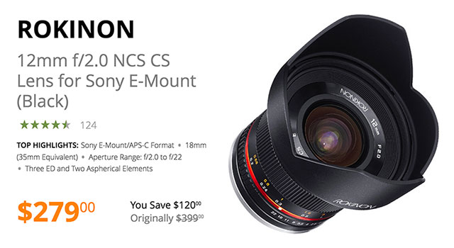 rokinon-12mm-aps-c-emount-lens-deal