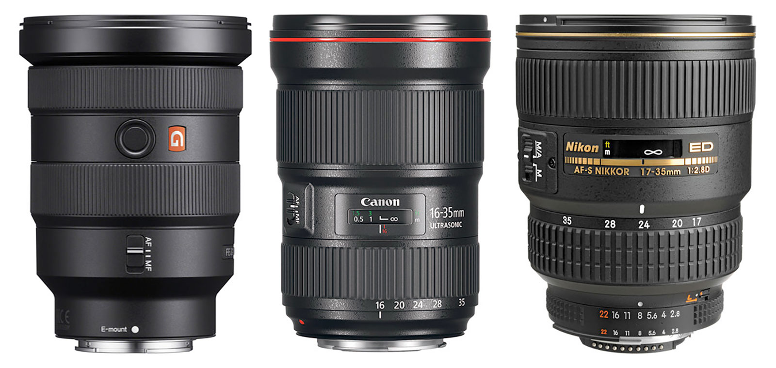 16-35mm F2.8 zooms