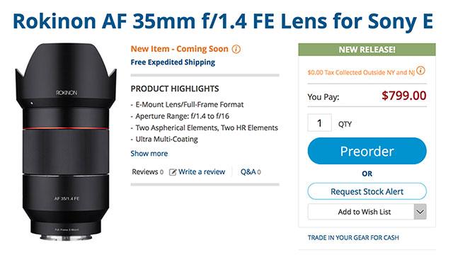 rokinon-35mm-f1-4-af-e-mount-lens