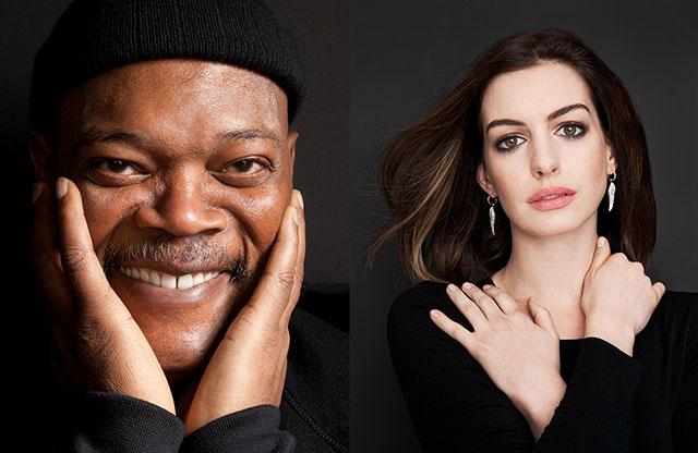 Samuel L Jackson and Anne Hathaway photographed for Art & Soul by Brian Smith