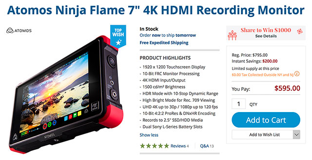 atomos-ninja-flame-4k-recorder-deal